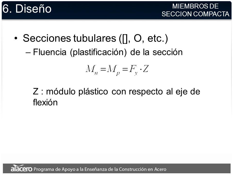 6. Diseño Secciones tubulares ([], O, etc.)